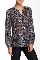 Kut From The Kloth Long Sleeve Blouse Black