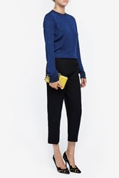 Msgm Women S Lurex Knit Boutique1 Blue