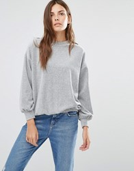 Warehouse Balloon Sleeve Sweater Grey