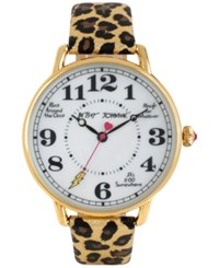 Betsey Johnson Women's Gold Tone Leopard Print Leather Strap Watch 44Mm Bj00207 16