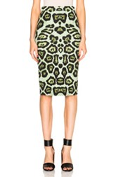 Givenchy Leopard Print Skirt In Green Animal Print