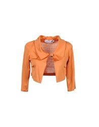Cristinaeffe Suits And Jackets Blazers Women Orange