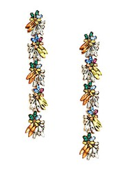 Natasha Crystal Drop Earrings Multicolor