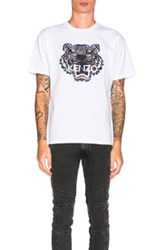 Kenzo Embroidered Tiger Tee In White