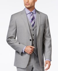 Tommy Hilfiger Grey Sharkskin Slim Fit Jacket