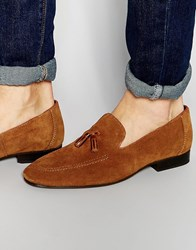 Red Tape Tassel Loafers In Tan Suede Tan