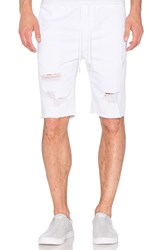 Stampd Distressed Denim Short Off White