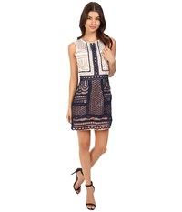 Adelyn Rae Woven Lace Fit And Flare Dress White Women's Dress