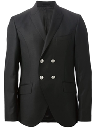 Pierre Balmain Double Breasted Blazer Black