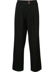 Song For The Mute High Waisted Cropped Trousers Black