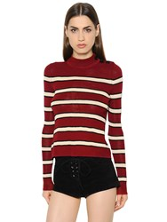 Etoile Isabel Marant Striped Knit Mock Neck Jumper