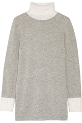 Magaschoni Cashmere Turtleneck Sweater Gray