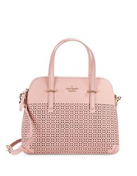 Kate Spade Maise Perforated Leather Dome Bag Pink Bonnet