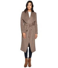 Cole Haan Signature 46 Draped Front Wrap Coat Portobello Women's Coat Beige