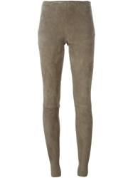 Drome Lateral Zip Fastening Leggings Grey