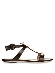 Gucci Willow Leather Sandals Black