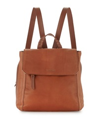 Cole Haan Felicity Flap Top Leather Backpack Sequoia