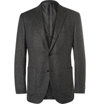 Ermenegildo Zegna Grey Slim Fit Cashmere And Silk Blend Blazer Gray
