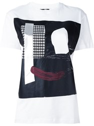 Mcq By Alexander Mcqueen Abstract Face Print T Shirt White