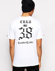 Crooks And Castles The Motto T Shirt White