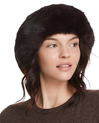 Surell Rabbit Fur Cuff Hat Brown