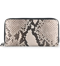 Loewe Zip Around Python Wallet Natural