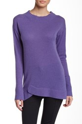 Cullen Asymmetric Cashmere Tunic Purple