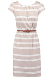 Comma Summer Dress Brown Beige