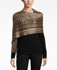 Inc International Concepts Zigzag Wrap Only At Macy's Black Bronze