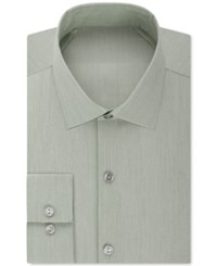 Kenneth Cole Reaction Techni Stretch Slim Fit Solid Dress Shirt Olive