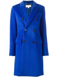Michael Michael Kors Double Breasted Coat Blue