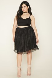 Forever 21 Plus Size Floral Lace Skirt
