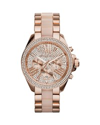Wren Rose Golden Stainless Steel Pave Watch Michael Kors