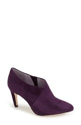 Johnston Murphy 'Isabel' Pointy Toe Ankle Bootie Women Eggplant Kid Suede