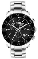 Versus By Versace 'Madison' Chronograph Bracelet Watch 42Mm Silver Black