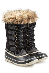 Sorel Joan Of Artic Tall Boots With Faux Fur Black