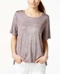 One Clothing Juniors' Textured Shine T Shirt