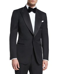 Tom Ford Windsor Base Peak Lapel Tuxedo Black