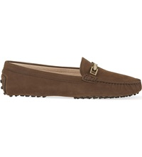 Tod's Clamp Leather Loafers Brown