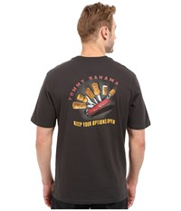 Tommy Bahama Keep Your Options Open Tee Coal Men's T Shirt Gray