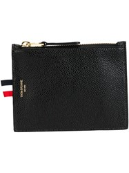 Thom Browne Classic Zip Pouch Black