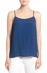 Women's 1.State Split Back High Low Tank Military Navy