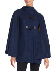 Bcbgeneration Hooded Toggle Button Caped Coat Navy