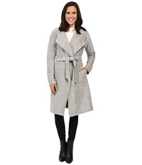 Only Uma Long Wool Coatigan Light Grey Melange Women's Coat Gray