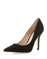 Charles David Sway Ii Pointy Suede Pump Black