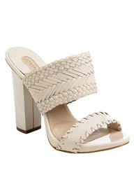 Joan And David Paladina Braided Leather Sandals White
