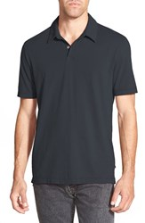 Men's James Perse Trim Fit Sueded Jersey Polo Carbon Pig