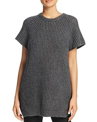 Dkny Pure Ribbed Heathered Tunic Charcoal Heather