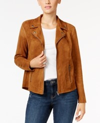 Styleandco. Style Co. Petite Faux Suede Moto Jacket Only At Macy's Saddle