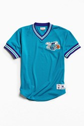 Mitchell And Ness Nba Charlotte Hornets Mesh V Neck Top Turquoise